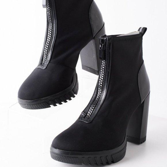 Heel Platform Ankle Boots